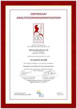 Schoonkantoor.nl ISO 9001